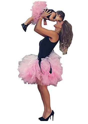Freie Größe scherzt Mamma zusammenpassendes Kleid-Frauen-Mädchen-Tulle-Ballett-Ballettröckchen-Rock (Mädchen (1 Stück) und Mama (1 Stück), (Frauen Tutu)