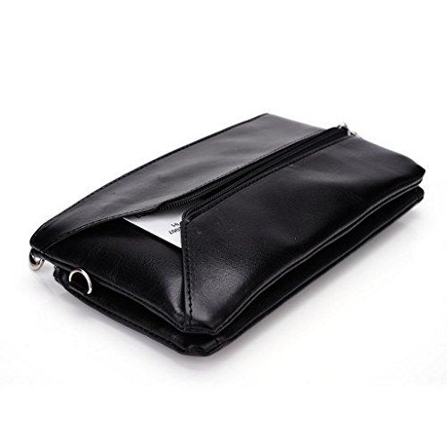 Kroo Femme pour Pocketbook pour 15cm, phablettes, smartphones compatible avec Pantech Vega No 6 Magenta and Blue Black and Blue