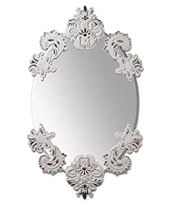 Lladr˜ - OVAL MIRROR WITHOUT FRAME (WHITE/SILVER)