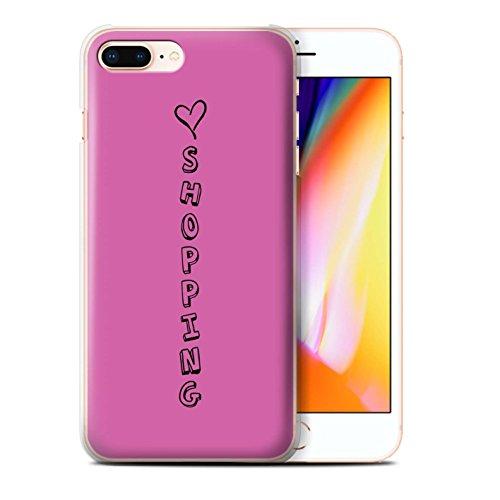 Stuff4 Hülle / Case für Apple iPhone 8 Plus / Blau/Liebe Wein Muster / Herz XOXO Kollektion Rosa/Liebe Einkaufen