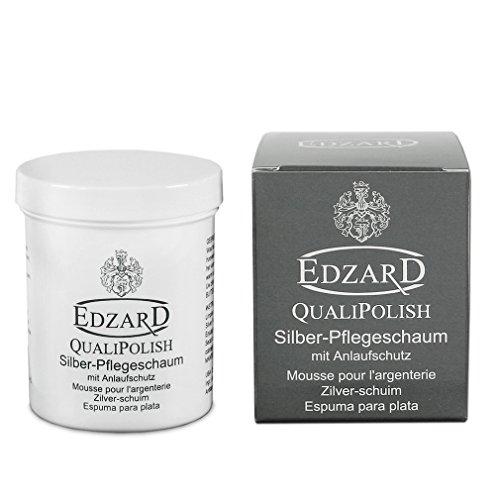 EDZARD QualiPolish® Silber-Pflegeschaum mit Anlaufschutz, Inhalt 200 Gramm (auch für Schmuckreinigung)