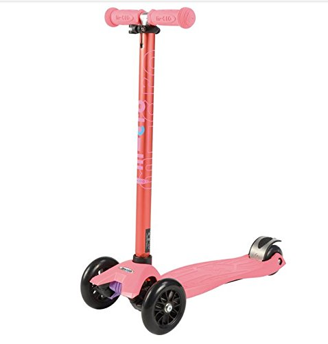 Maxi Micro coral pink metallic (T-Lenker) MM0177 Kinderscooter 5-12 Jahre -
