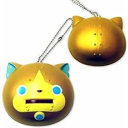 Palla squishy da strizzare, personaggio Yo-Kai Watch con catenina (grande, Gorunyan)