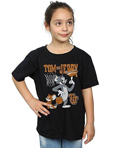 Tom and Jerry Mädchen Spinning Basketball T-Shirt Schwarz 9-11 Years