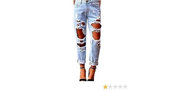 Ufficio Fai Da Te Jeans : Donna jeans denim strappato jeans stretch matita pantaloni sottili