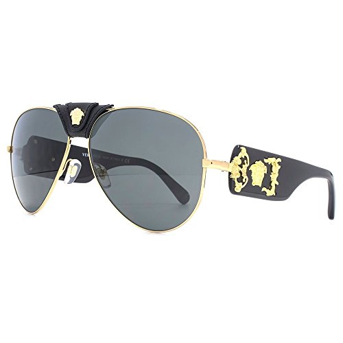 39d16589747b Versace-Medusa-Leather-Bridge-Detail-Aviator-Sunglasses-in-Gold-Black -VE2150Q-100287-62