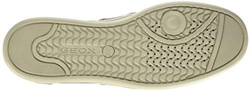 Geox U Warrens A, Zapatos Bajos Para Hombres Gris (dk Grey)