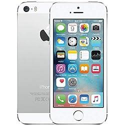 Apple iPhone 5S Argent 16Go Smartphone Débloqué (Reconditionné)