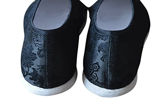 Interact China Zapatos De Lujo Cosidos A Mano Kung Fu Artes Marciales Tai Chi - Suela De 8 Capas # 202 + Revista Homage Suela De Algodón Cosida A Mano