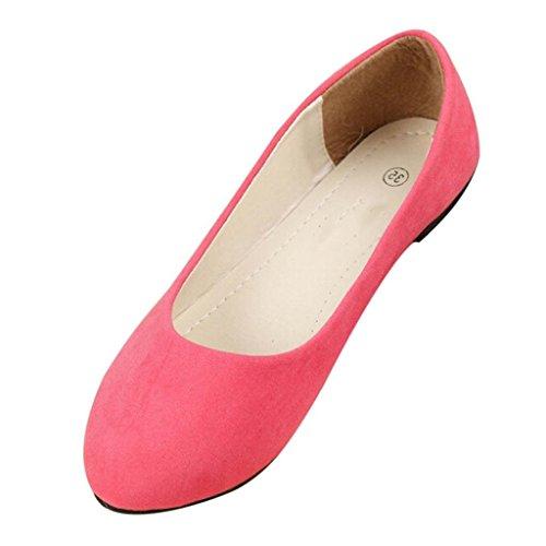 Minetom Pantofole Stile Semplice Scarpe Comode da Donne FlatsPompe Rosa