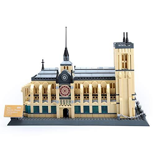 BENPAO Weltberühmte Architektur Notre Dame 3D Modell bausteine   Set Kinder Bildung montieren Frankreich Souvenir 1380 stücke Modell montiert Puzzle pädagogisches Spielzeug