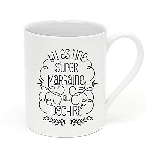 "Mug ""Tu es une super Marraine qui déchire"" - Label"