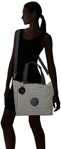 Kipling - New Shopper L, Borse Tote Donna Multicolore (Marine Stripy)