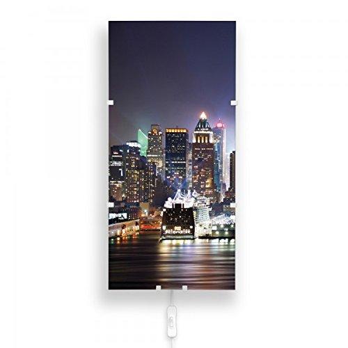 banjado-Design-Lampe-26cmx56cm-Wandlampe-LED-Leuchte-mit-Schalter-und-Motiv-New-York