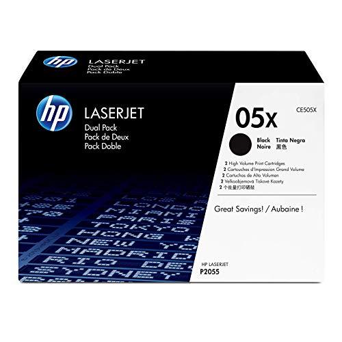HP 05XL - Pack de ahorro de 2 cartuchos de tóner HP 05X de álta capacidad Negro para HP LaserJet P2035 , P2055