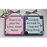 TP Nana and Grandad Wooden Gift Plaques/signs