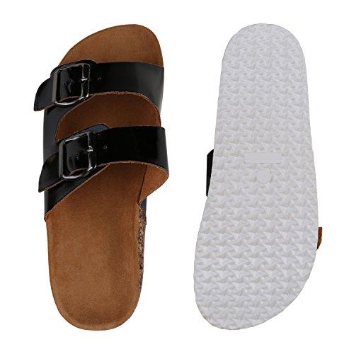 ShangYiBequeme, rutschfeste Slip-Sandalen aus Rindsleder Die Sommer Zehensandalen Flip-Flop, schwarz, EU40 / UK7 / CN41