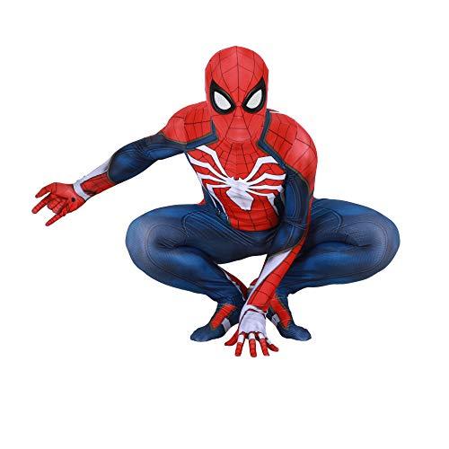 ASJUNQ Ps Spiderman Kostüm Cosplay Siamesische Strumpfhose Halloween Phantasie Dress Party Thema Party ()