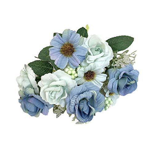 gefälschte Rose Flower Bridal Bouquet Hochzeit Party Decor Vintage Künstliche Seidenblumen Bouquet zur Dekoration Künstliche Blume Blumenstrauß Für Party Fest Haus Büro Bar Dekor ()