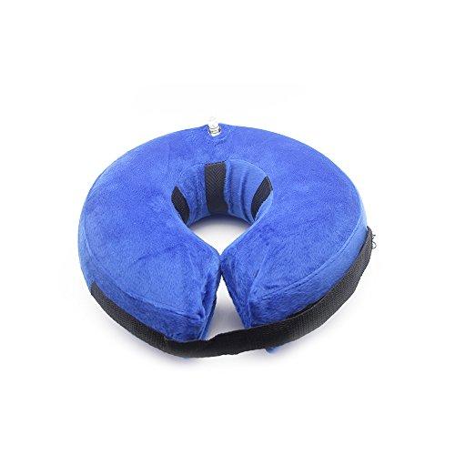 PET SPPTIES aufblasbar Halsband für Haustier Hund Katze bequem weich Recovery Schwimmen Schutz-mit Magic Reißverschluss für Haustier Hund Nackenschutz Kissen PS005 (M)