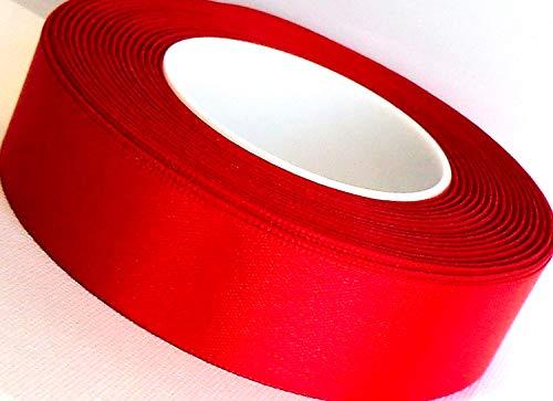 SATINBAND 25m x 25mm Rot Schleifenband Satin Geschenkband DEKOBAND