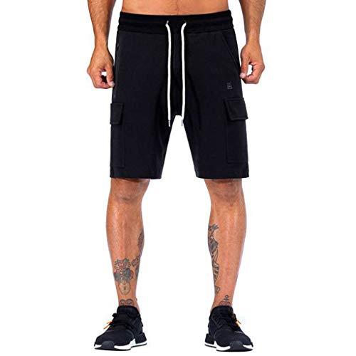 Shorts Herren Lässig Solide Gummizug In Der Taille Tasche Sport Joggen Fitness Shorts Hosen -