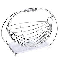 HXRYFC Creative Stainless Steel Fruit Cradle, Swing Stainless Steel Candy Plate Living Room Fruit Bowl Drain Basket Fruit Storage Basket Modern Minimalist