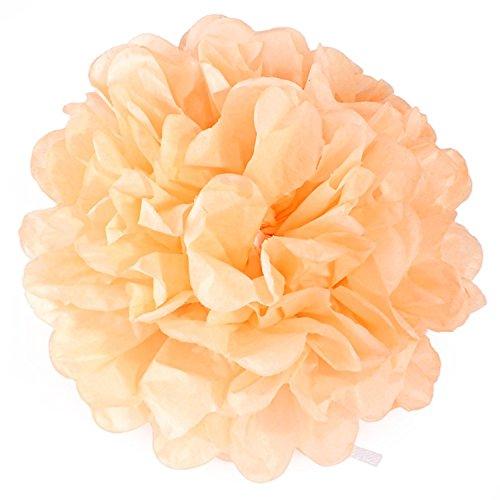 Amody Bunte DIY 8 inch Papierkunst Blume Ball Hochzeit Dekoration Hellrosa