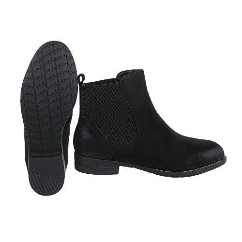 Ital design Nera Donna Boots Chelsea 88rqY