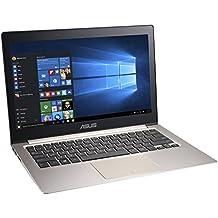 """ASUS Zenbook UX303LA-C4145H - Portátil táctil de 13.3"""" (Intel Core i5 4210U, 6 GB de RAM, 500 GB HDD, 8 GB SDD, Intel HD, Windows 8.1 ), negro -Teclado QWERTY Español (retro iluminado)"""