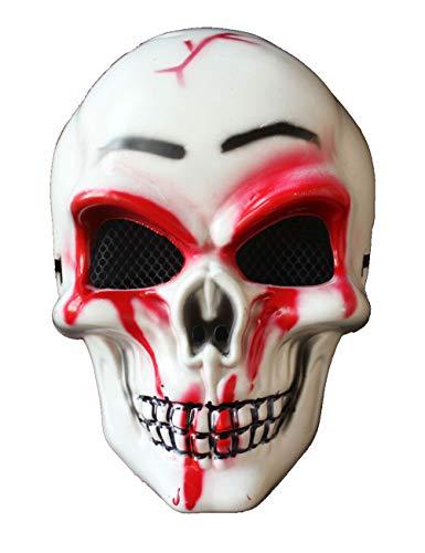 Halloween Maske Scary Horror Gesichtsmaske Skull Skeleton Halbmaske Für Erwachsene (Farbe : ()