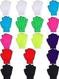 18 Paires de Gants d'Hiver Magiques Gants Tricotés Chauds pour les Enfants en Bas Âge Gants pour Enfants de 6 à 12 Ans (Multicolore)