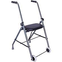 Andador de aluminio muy ligero y plegable   Fácil uso y transporte   Caminador para adultos