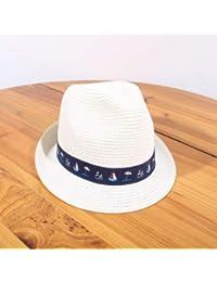 53d5e24ae008a GUOMAOUP Sombrero Moda Sombrero para El Sol Sólido para Niños Sombrero De  Paja para Niños Y Niñas Playa Casual Panamá Sombrero…