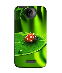 FUSON Designer Back Case Cover for HTC One X :: HTC One X+ :: HTC One X Plus :: HTC One XT (Butterfly Arts Shining Green Red Natural Art)