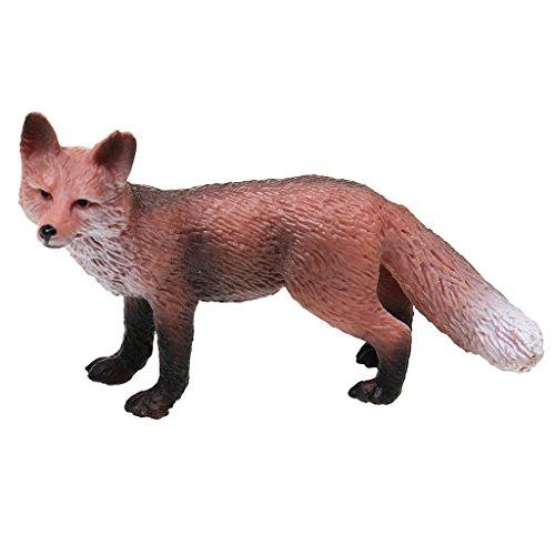 IJARP Simulation Red Fox Animal Model Figure Kids Toy Story Telling & Teaching Props