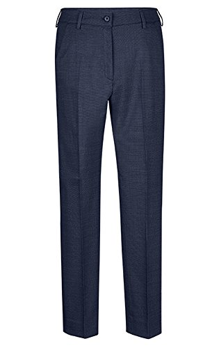 Greiff Damen-Hose Slim Fit, modern with 37,5, slim fit, 1374, pinpoint marine, Größe 40 (Pinpoint Slim Fit)