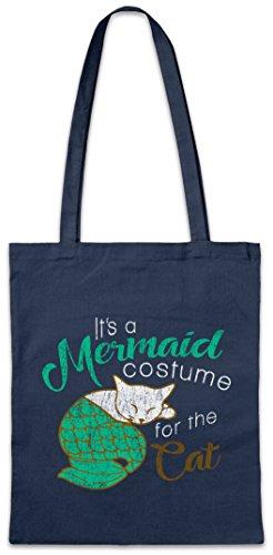 Urban Backwoods Modern Mermaid Cat Hipster Bag Beutel Stofftasche ()