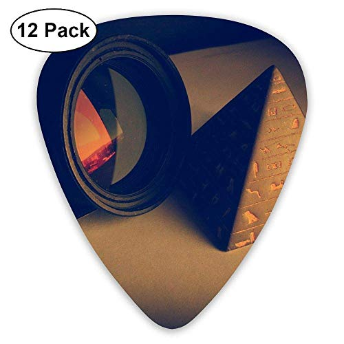 Classic Guitar Pick (12 Pack) Camera Cone Flash Lens Camera Player's Pack for Electric Guitar,Acoustic Guitar,Mandolin,Guitar Bass