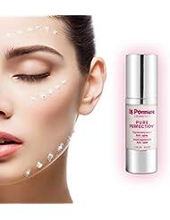 Meilleur sérum hydratant pour le visage + acide hyaluronique, réduit l'apparition des rides. Antiâge pour le visage avec de la vitamine C, vitamine A, rétinol, vitamine E, coenzyme Q10, élastine, collagène. Non gras, pour une peau jeune et saine