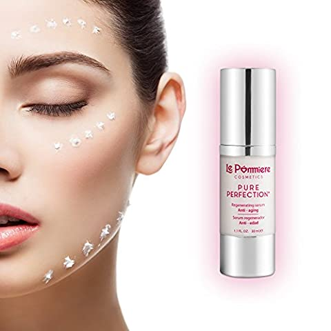 Best Serum for face Moisturizing + Hyaluronic Acid - Reduces wrinkles on the skin. Vitamin C, Anti-aging for faces. Vitamin A Retinol + Vitamin E + Coenzyme Q10 + Elastin + Collagen. 1,1 oz/30ml. Non-greasy, healthy and youthful skin. Buy it now and you will see the results