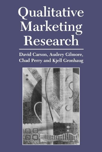 Qualitative Marketing Research by Carson, David J., Gilmore, Audrey, Perry, Chad, Gronhaug, Kj published by SAGE Publications Ltd (2001)