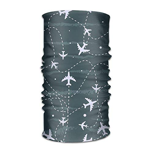 Uosliks Multifonctionnel Headwear Voyage autour du monde avion avion Head Head Wrap Sports & Casual Headband Bandana pour femmes et hommes
