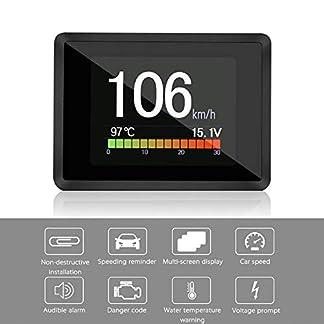 LayOPO OBD/OBD2 medidor digital inteligente, pantalla de subida de cabezales OBD/OBD2, indicador de temperatura OBD, velocímetro digital Hud, voltaje, consumo de combustible, temperatura del agua