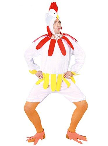 Für Erwachsene Hahn Kostüm - Guirca Hennenkostüm, Weiß, Einheitsgröße, 80605