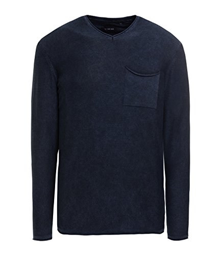 Camp David Pullover Indigo gefärbt Dark Navy M