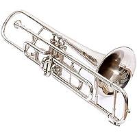 Válvula trombón W/libre caso caja y boquilla w/3Válvulas en cromo pulido, nuevo