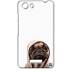 yP Cute Pug Design Hard Back Case Cover for Micromax Unite 3