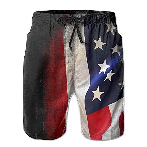 khgkhgfkgfk Man Summer July 4th USA Vintage Flag Quick Dry Beach Shorts Board Shorts Swim Trunks Cargo Shorts Small -