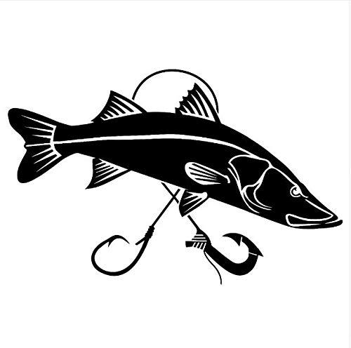 Zemn Wandaufkleber Vinyl Auto Aufkleber Kreative Heckscheibe Dekor Aufkleber Wasserdichte Auto Styling Fisch Aufkleber 20 cm Breite - Heckscheibe Fisch-aufkleber